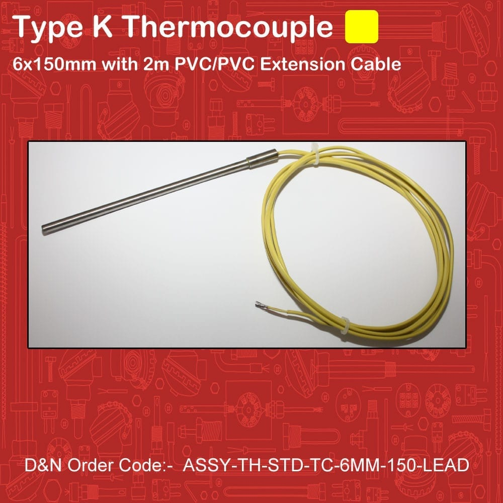 ASSY-TH-STD-TC-6MM-150-LEAD